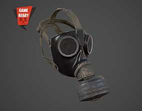 3D asset Gas Mask PBR GameReady