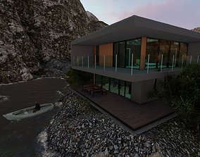 Modern two storey villa 3D model