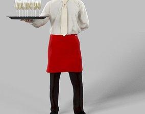 3D asset Radim A Caucasian Male Dressed As A Waiter 3