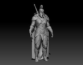 3D model Soldier character warrior with armor