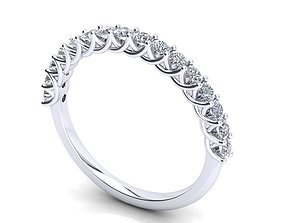3D printable model Multi stones ring 16 diamonds jewel 1