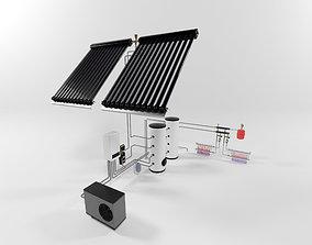 Heat pump instalation 3D model
