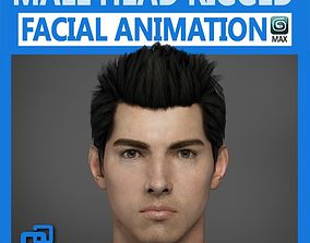 3D model Adult Male Head Rigged