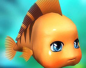 3DRT - Cute fish animated VR / AR ready