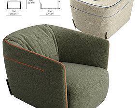 3D Poliform SANTA MONICA armchair