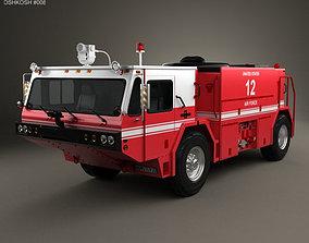 3D Oshkosh P19 Fire Truck 1984