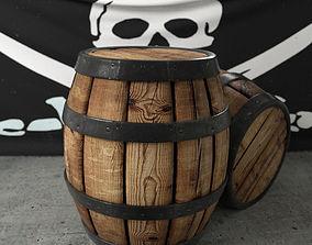3D model Pirate Barrel