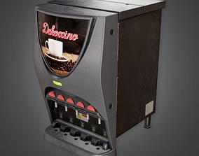 Commerical Cappucino Machine - SAM - PBR Game 3D model