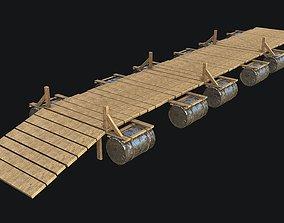 3D asset Wooden Bridge Game-ready PBR