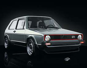 3D model VW GOLF GTi MK1 Mid poly