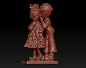 3D printable model boy and girl figurine