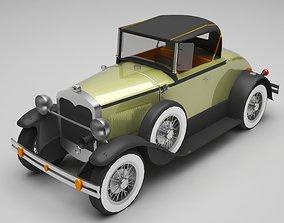 racing tire 3D model Classic car