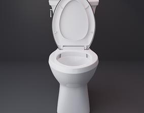 3D asset low-poly Modern Toilet