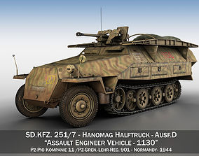 SDKFZ 251 - Ausf D - Assault-Engineer Vehicle - 3D model