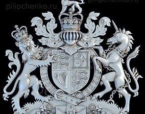 3D print model Coat of arms of the United Kingdom