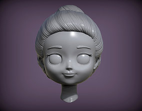 3D printable model doll head