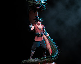 3D printable model Goku and Shenlong - Fanart Statue