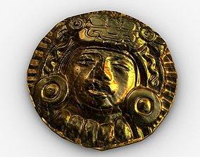 Ancient gold 3D asset
