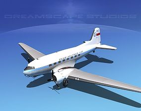 Douglas DC-3 Polish LOT 3D