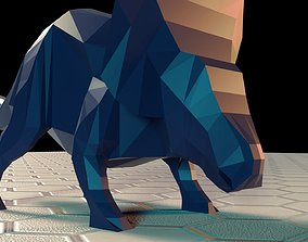 3D model Low-Poly Triceratops
