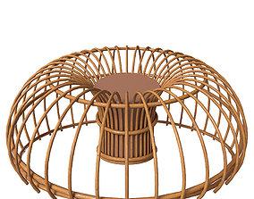 Wicker seat 3D model