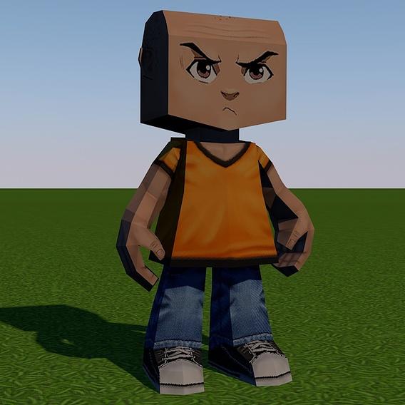 Cubed man