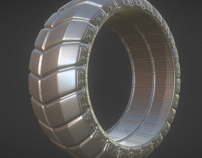 Futuristic Tire High-Poly Version 3D animated