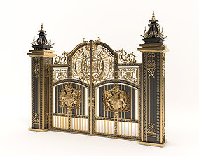 Classic Mansion Gate 3D model