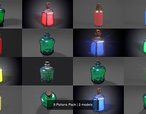 3D model 9 Potions Pack