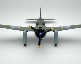 3D model Saab 17 B - Swedish Dive bomber - Reconnaissance