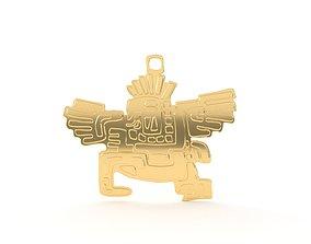 3D printable model Native American pendant 03 eagle