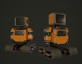 3D asset Industrial orange robot