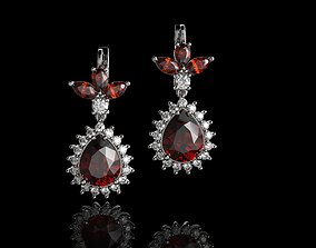 3D printable model Diamond And Garnet Color Stone