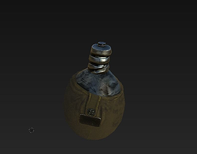 3D model soviet union old flask