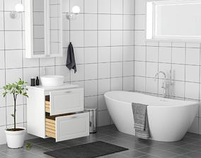 3D model realtime Bathroom washcloset