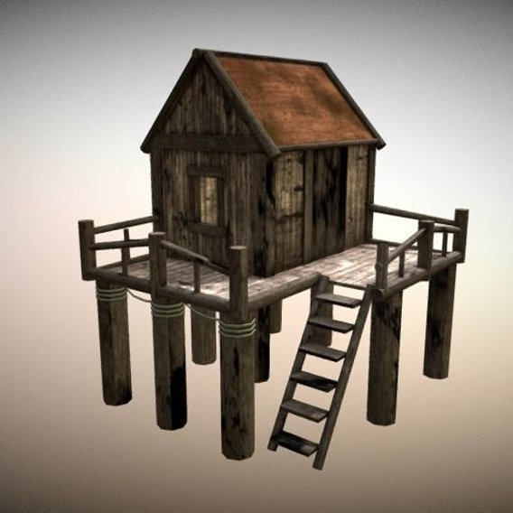 Old House - Pbr Game Ready Low-poly 3D model