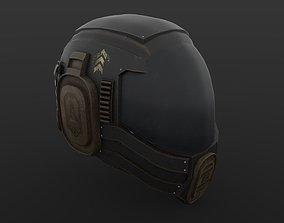 Sci-Fi Helmet Military 3D model