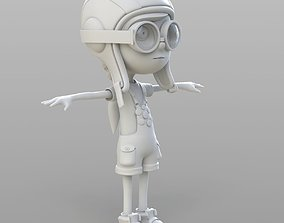 girl 3D model Cartoon Pilot Little Loli