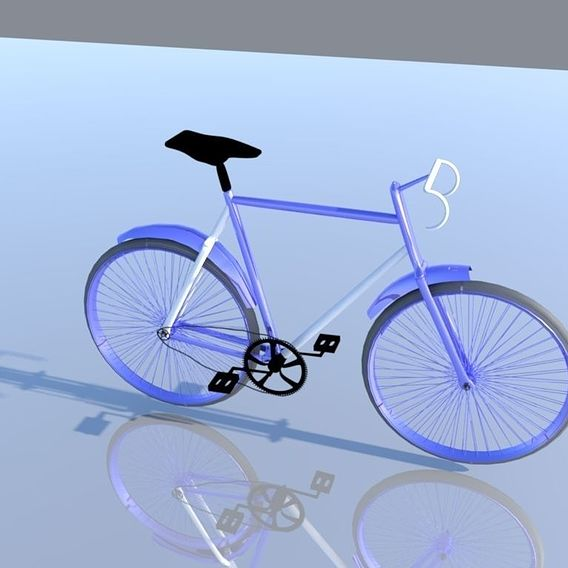 bicycle low poly