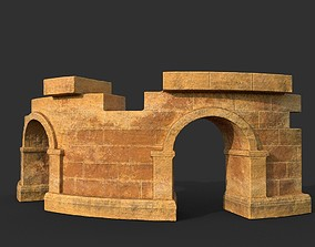 Low poly Ancient Roman Ruin Construction 03 - 3D asset