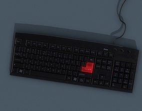 Keyboard 3D model PBR