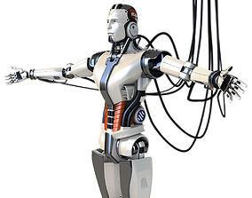 3D Man cyborg robot