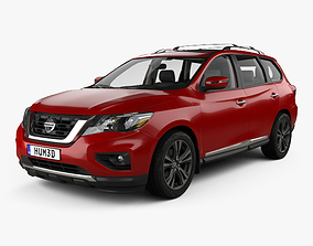 3D model Nissan Pathfinder with HQ interior 2017