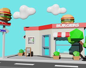 3D asset Burger House