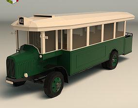 3D asset Low Poly Vintage Bus 03