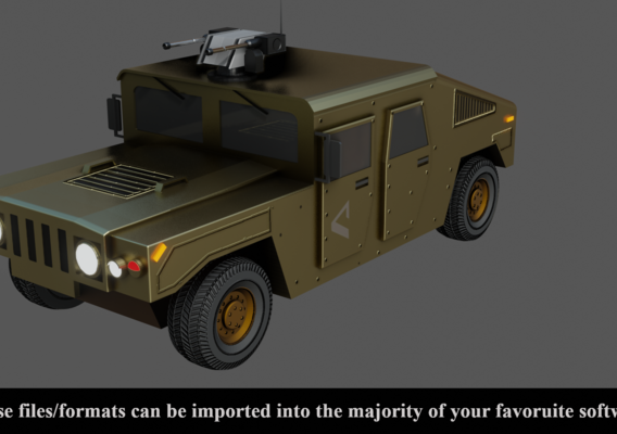 Low poly Military Vehicle