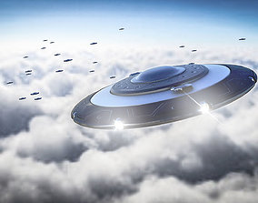 UFO 3D Model animated