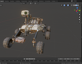 Mars Rover 3D model game-ready
