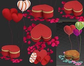 red heart box 3D model