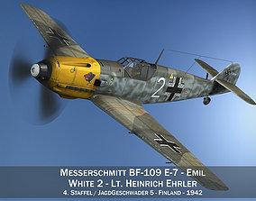 3D Messerschmitt - BF-109 E - White 2 - JG 5